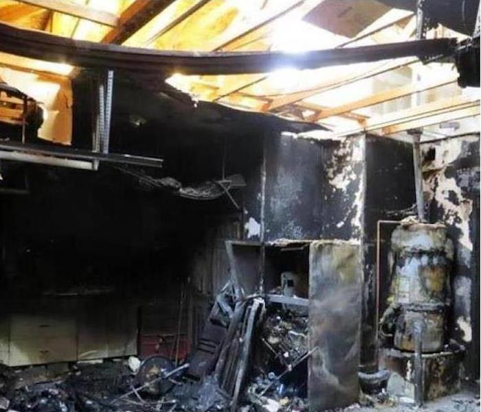 Fire Damage – Cleveland, TN Garage