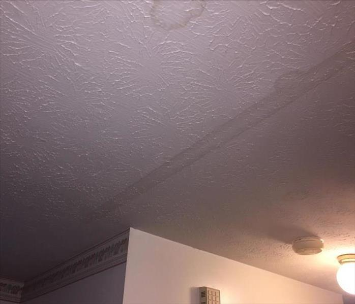 Wet Ceiling Shows Water Migration