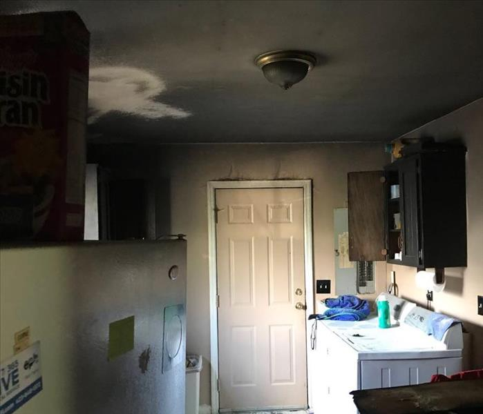Soot Covered Kitchen